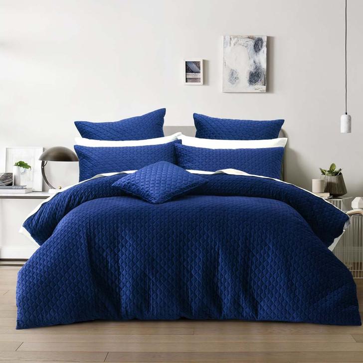 Bianca Alden Indigo Queen Bed Quilt Cover Set | My Linen