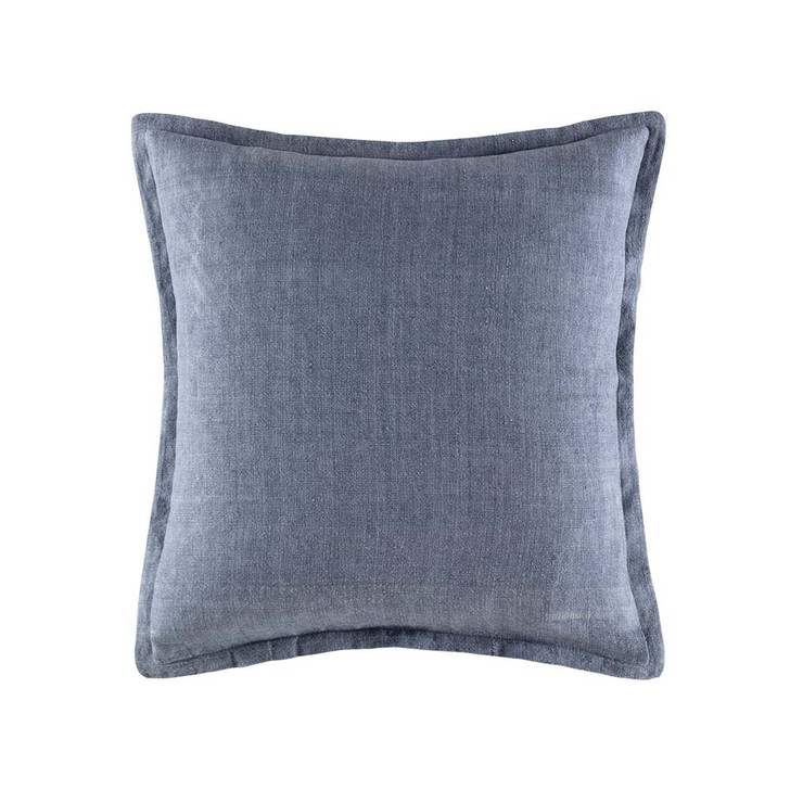 KAS Linen Denim Square Filled Cushion | My Linen