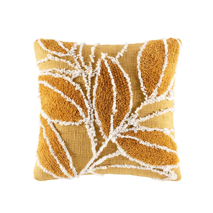 KAS Hedgerow Mustard Square Filled Cushion   My Linen