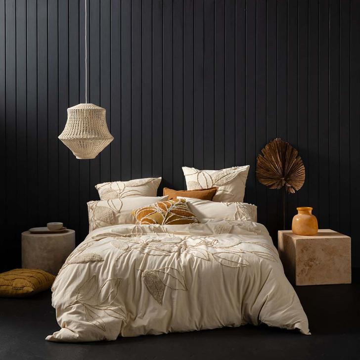 KAS Hedgerow Cream Queen Bed Quilt Cover Set | My Linen