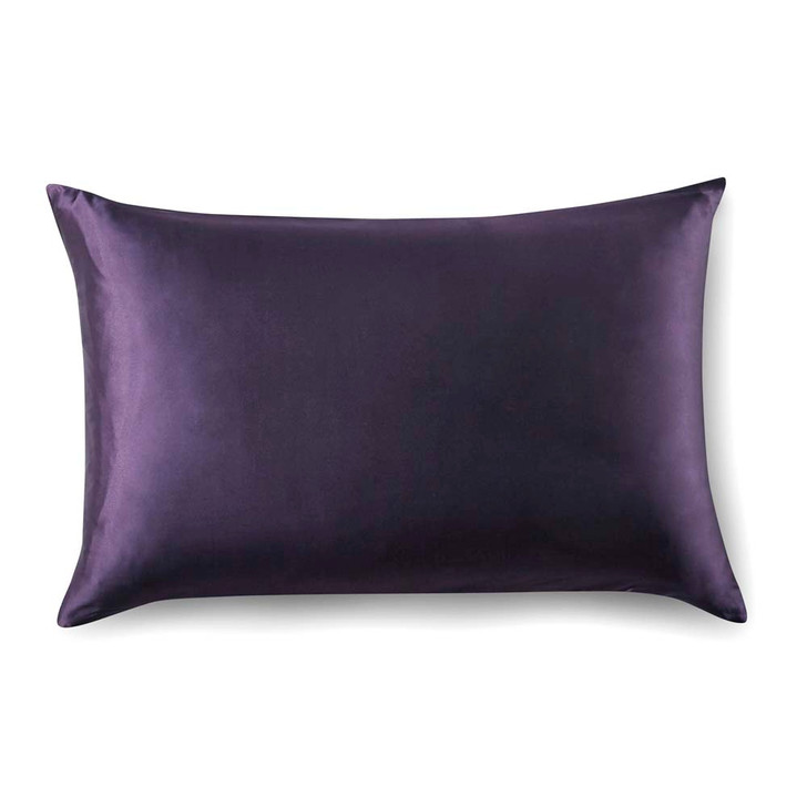 Gioia Casa 100% Mulberry Silk Luxury Dark Purple Standard Pillowcase | My Linen