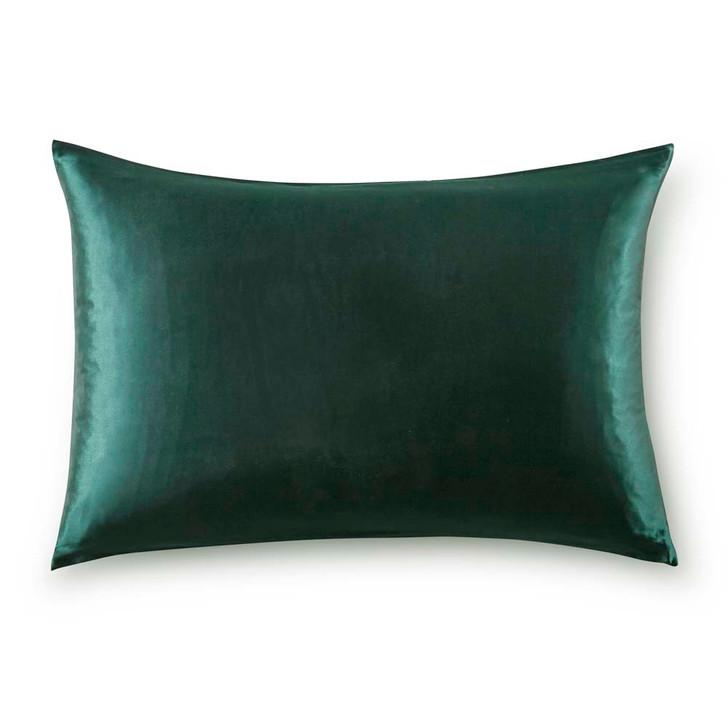 Gioia Casa 100% Mulberry Silk Luxury Emerald Green Standard Pillowcase | My Linen