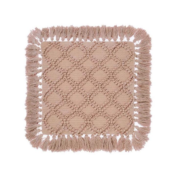 Linen House Circlet Terracotta Square Filled Cushion   My Linen