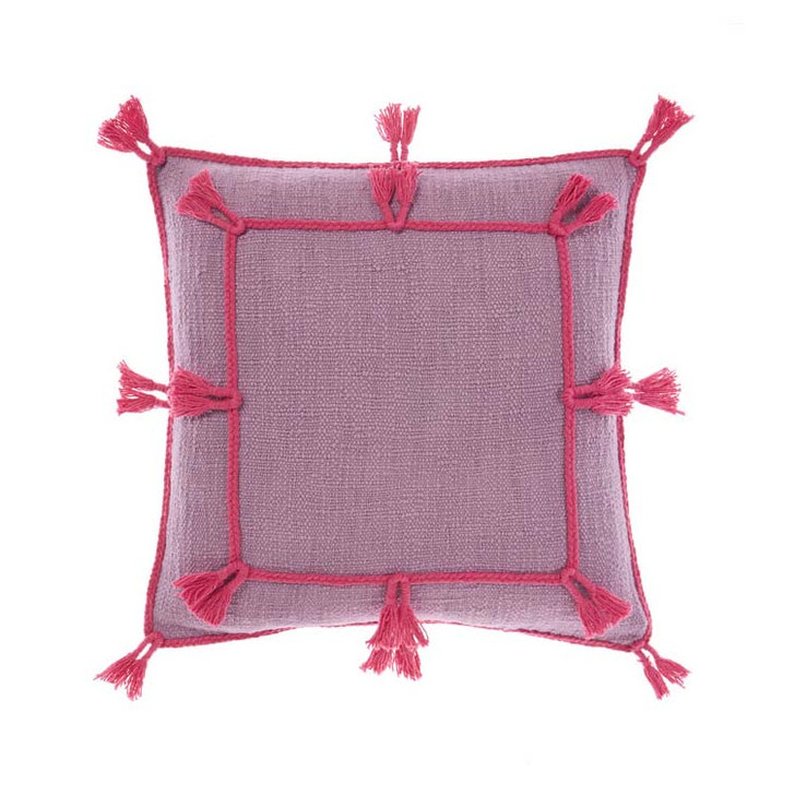 Linen House Hannah Orchid Square Filled Cushion | My Linen