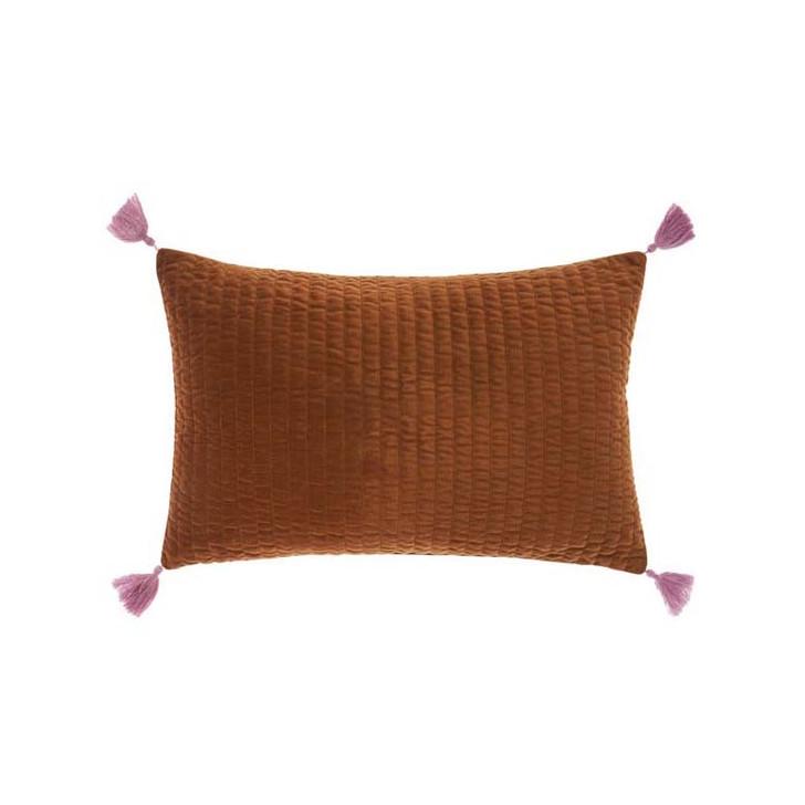 Linen House Drew Paprika Long Filled Cushion | My Linen