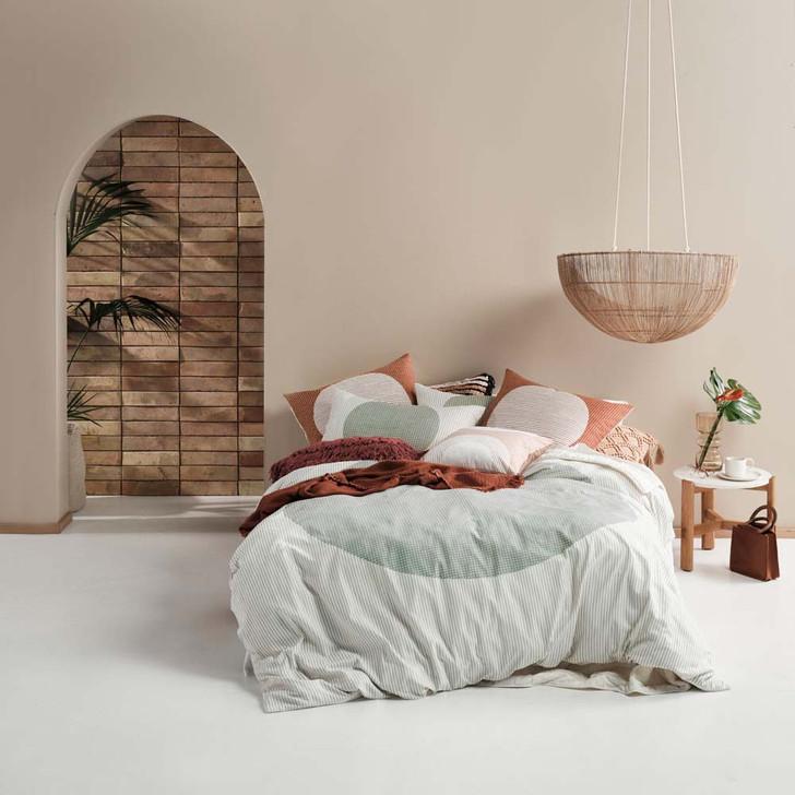 Linen House Solar Stillwater Queen Bed Quilt Cover Set   My Linen