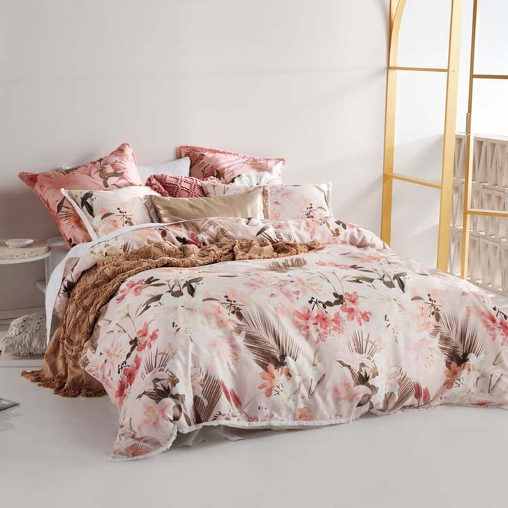 Linen House Holidae Petal Double Bed Quilt Cover Set   My Linen