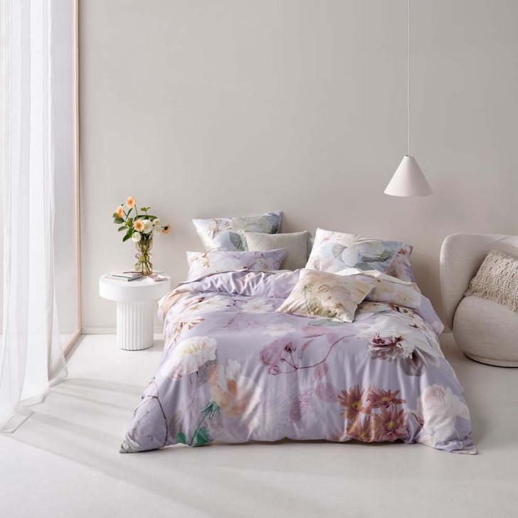 Linen House Annella Lilac Double Bed Quilt Cover Set   My Linen
