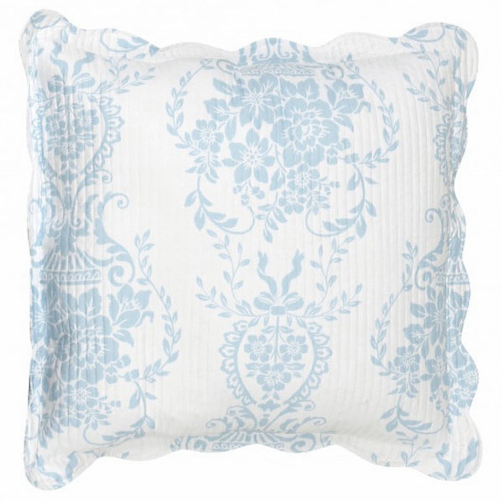 Florence Blue European Pillowcase by Bianca   My Linen