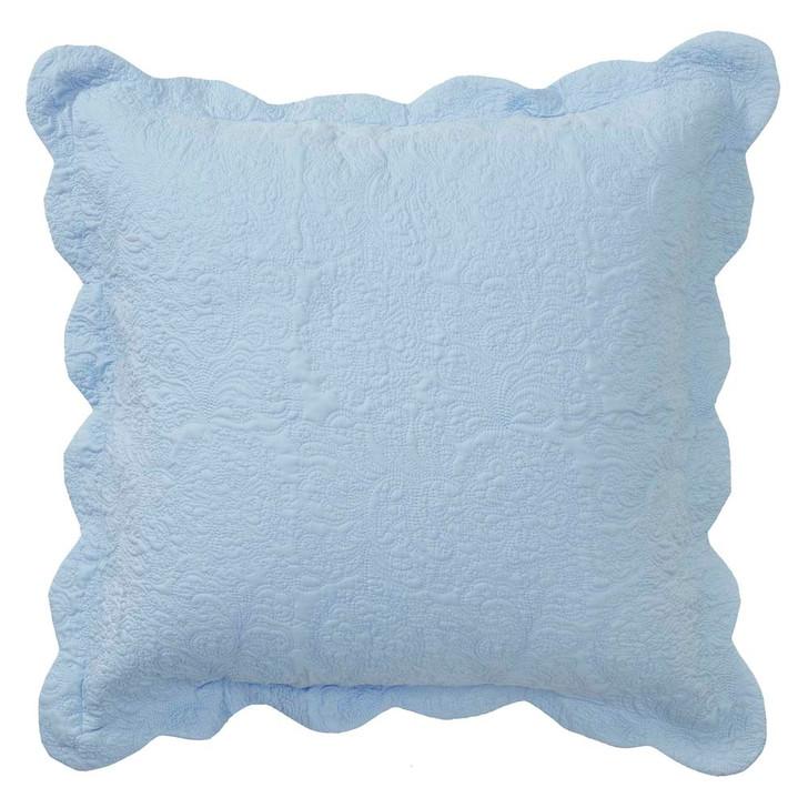 Bianca Hampton Blue European Pillowcase | My Linen