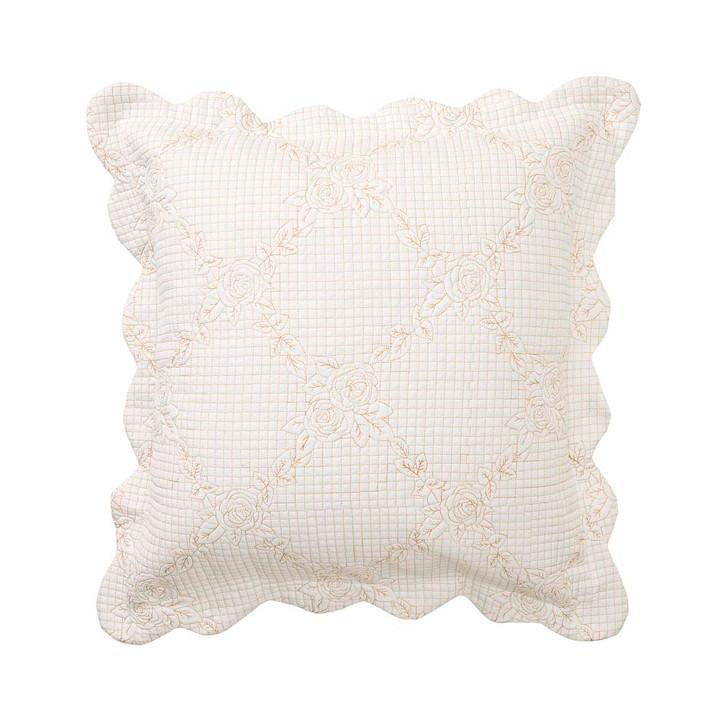 Bianca Belle Ecru Square Filled Cushion | My Linen