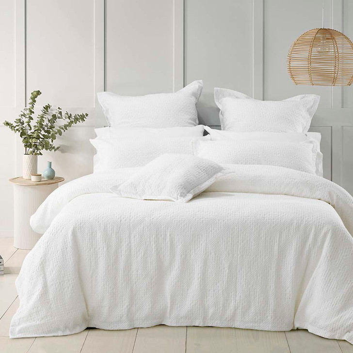Bianca Elegance Colca White King Bed Quilt Cover Set | My Linen