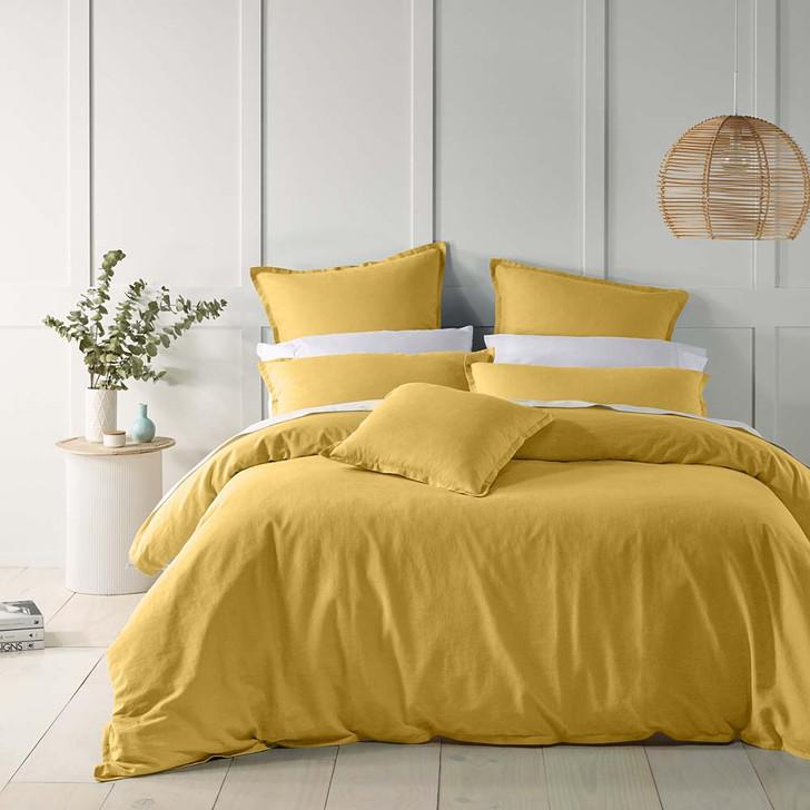 Bianca Wellington Gold Double Bed Quilt Cover Set | My Linen