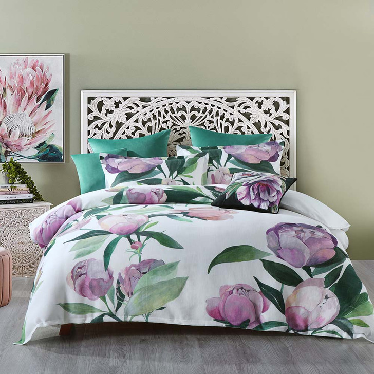 Bianca Charmaine White Queen Bed Quilt Cover Set | My Linen