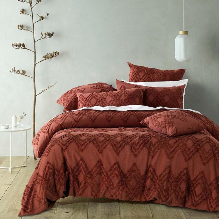 Bianca Jaipur Terracotta King Bed Quilt Cover Set | My Linen