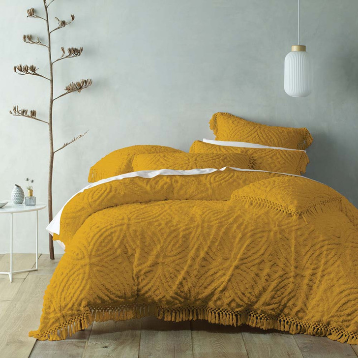 Bianca Savannah Mustard King Bed Quilt Cover Set | My Linen