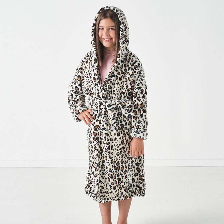 Hiccups Plush Kids Bathrobe Leopard Kids Medium Size 6   My Linen