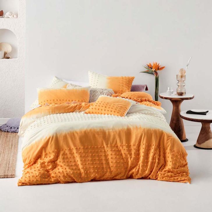 Linen House Basque Marigold Queen Bed Quilt Cover Set | My Linen