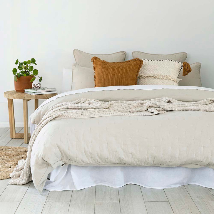 Bambury Willare Pebble Single Bed Quilt Cover Set   My Linen