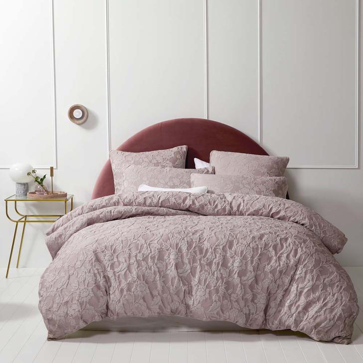 Platinum Logan and Mason Prairie Blush Queen Bed Quilt Cover Set   My Linen