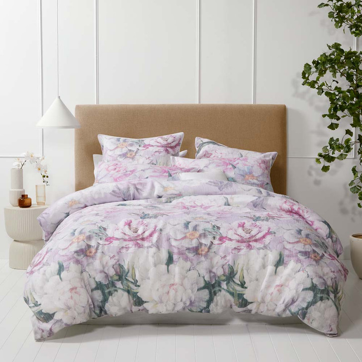Platinum Logan and Mason Amity Dusk Queen Bed Quilt Cover Set   My Linen