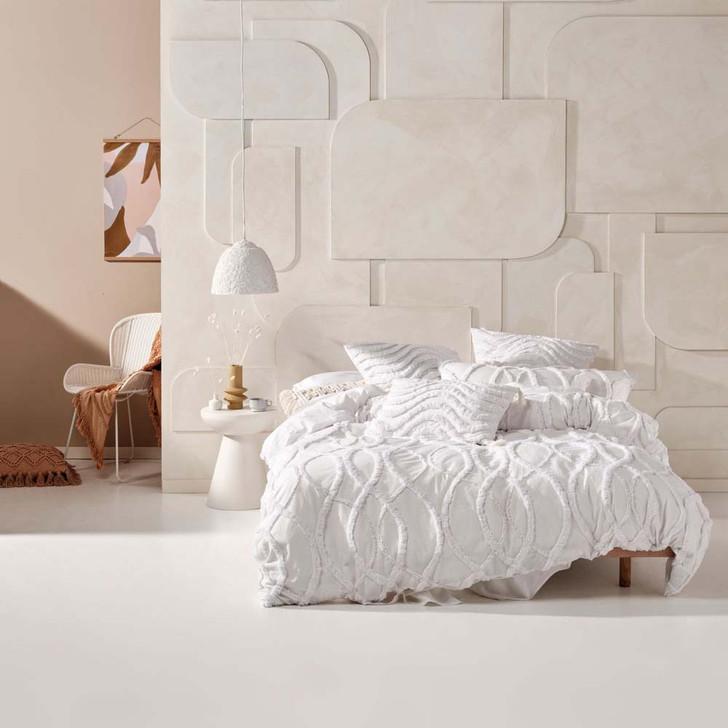 Linen House Amadora White Super King Quilt Cover Set | My Linen