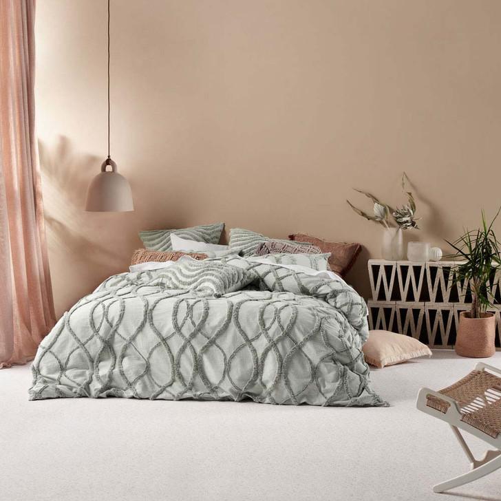 Linen House Amadora Smoke Queen Bed Quilt Cover Set | My Linen
