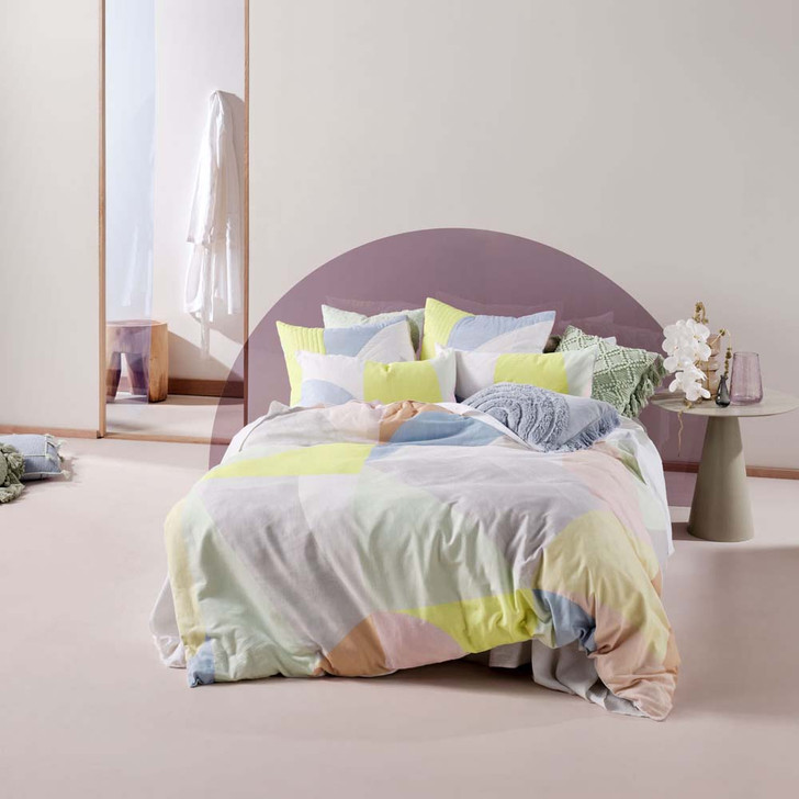 Linen House Otto Multi Double Bed Quilt Cover Set   My Linen