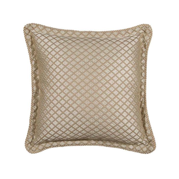Davinci Lancaster Gold Square Filled Cushion | My Linen