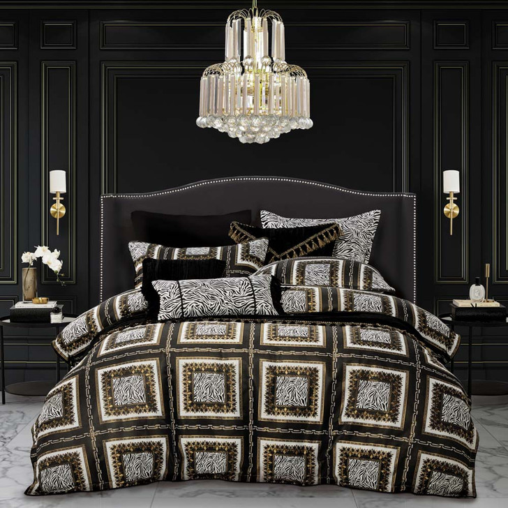 Davinci Piazza Gold King Bed Quilt Cover Set | My Linen