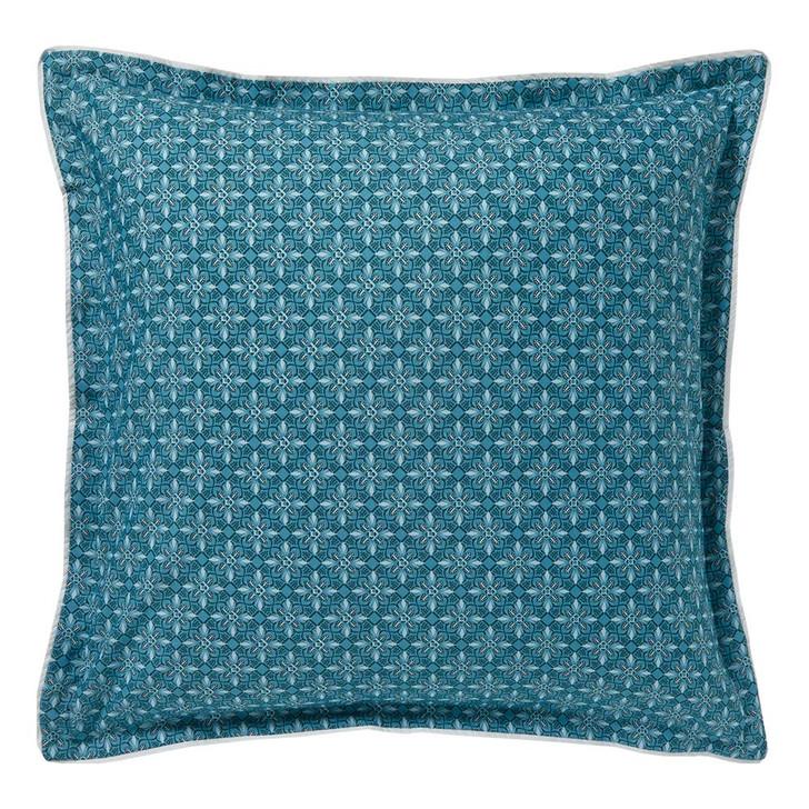 Logan and Mason Zali Teal European Pillowcase | My Linen