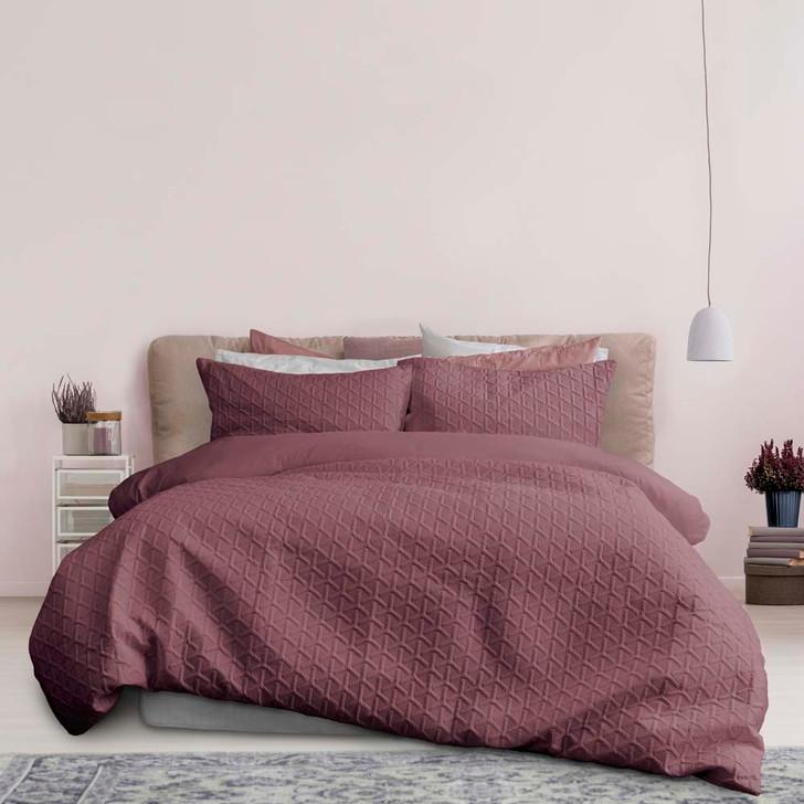 Ardor Boudoir Leonardo Deep Pink Double Bed Quilt Cover Set | My Linen
