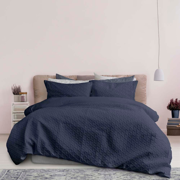 Ardor Boudoir Leonardo Midnight King Bed Quilt Cover Set   My Linen