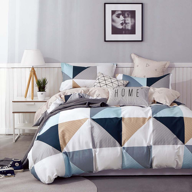 Ardor Trent Multi Queen Bed Quilt Cover Set | My Linen