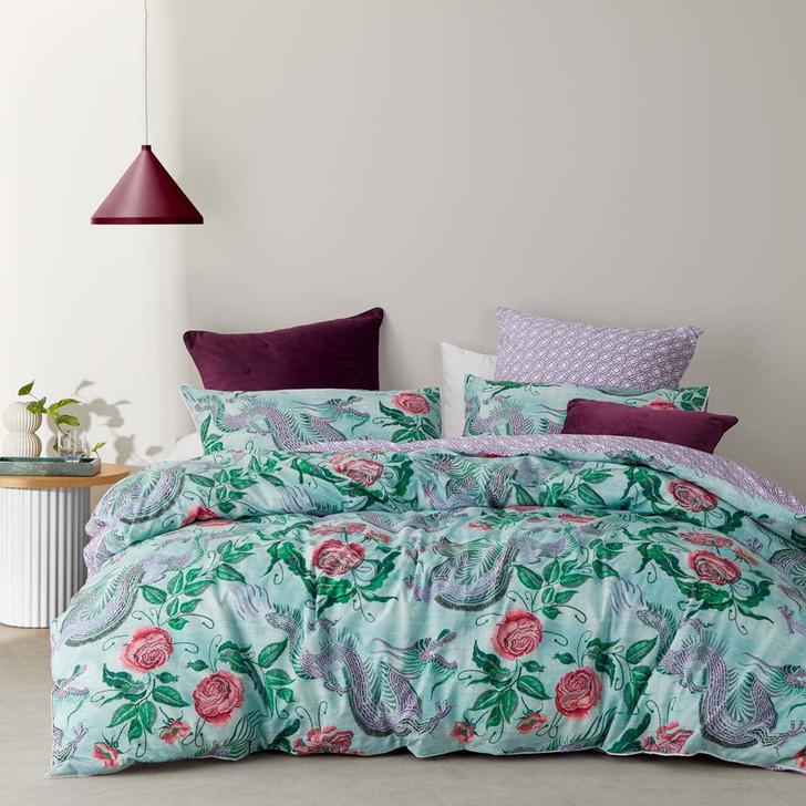 Logan and Mason Dragon Jade King Bed Quilt Cover Set | My Linen