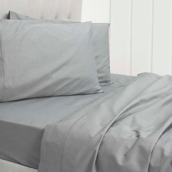 Ardor Ada Grey 1000TC Cotton Rich King Bed Sheet Set | My Linen