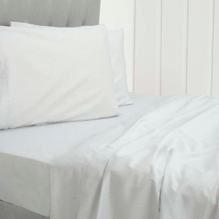 Ardor Ada White 1000TC Cotton Rich Queen Bed Sheet Set | My Linen