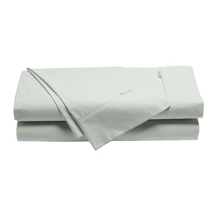 Bianca Heston 100% Cotton Percale Silver Split King Sheet Set   My Linen