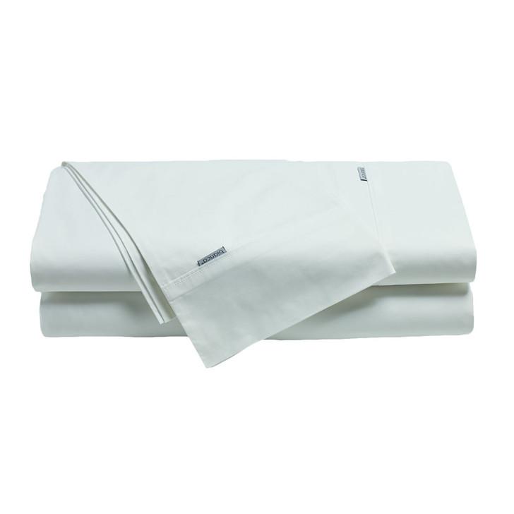 Bianca Heston 100% Cotton Percale White Split King Sheet Set   My Linen