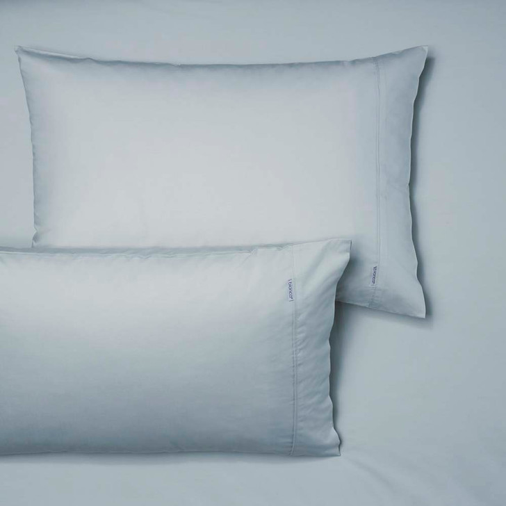 Bianca Heston 100% Cotton Percale Steel Blue Single Bed Fitted Sheet and Pillowcase Combo | My Linen