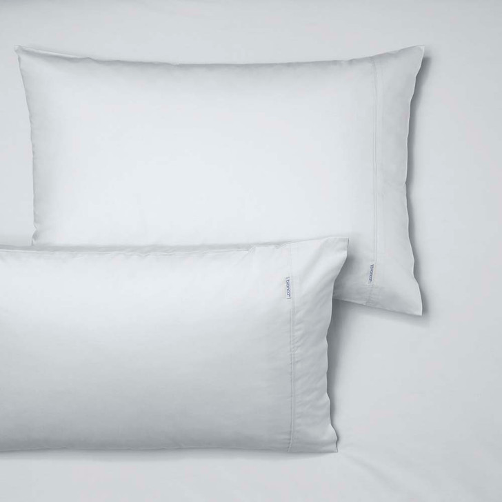 Bianca Heston 100% Cotton Percale White Long Single Fitted Sheet and Pillowcase Combo   My Linen