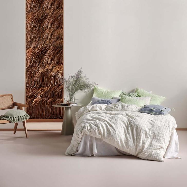 Linen House Benedita Mint Super King Quilt Cover Set | My Linen