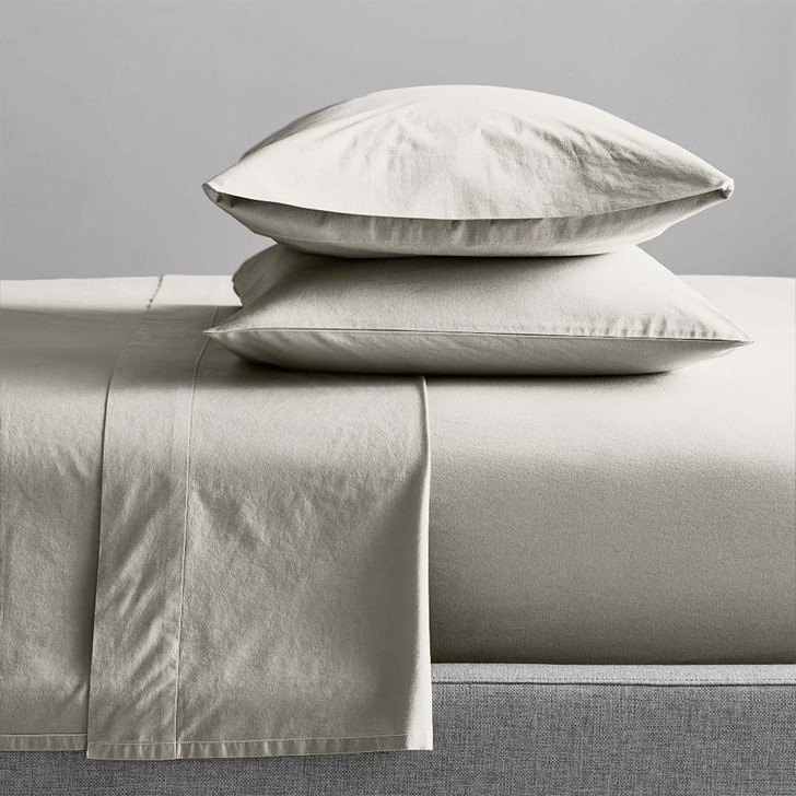 Renee Taylor Organic Moonbeam Sheet Set Queen Bed | My Linen