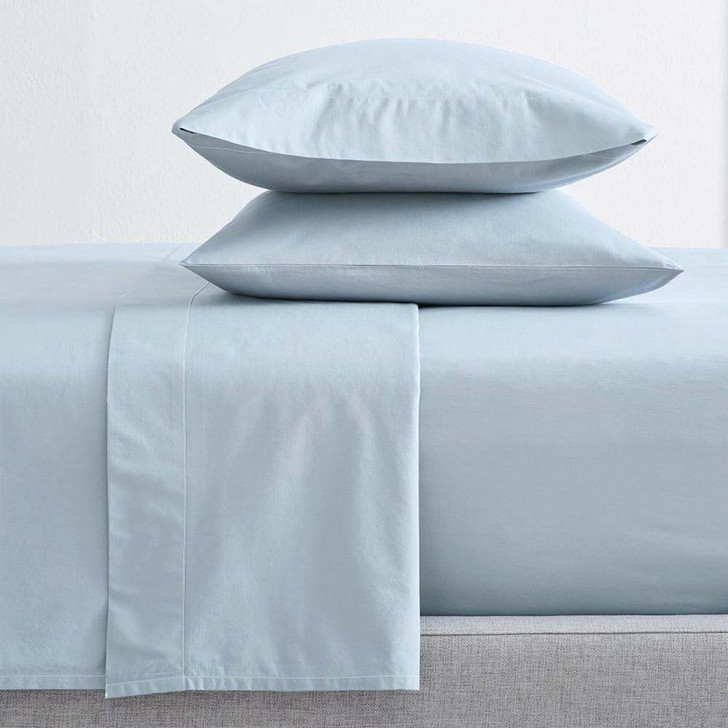 Renee Taylor Organic Baby Blue Sheet Set Single Bed | My Linen