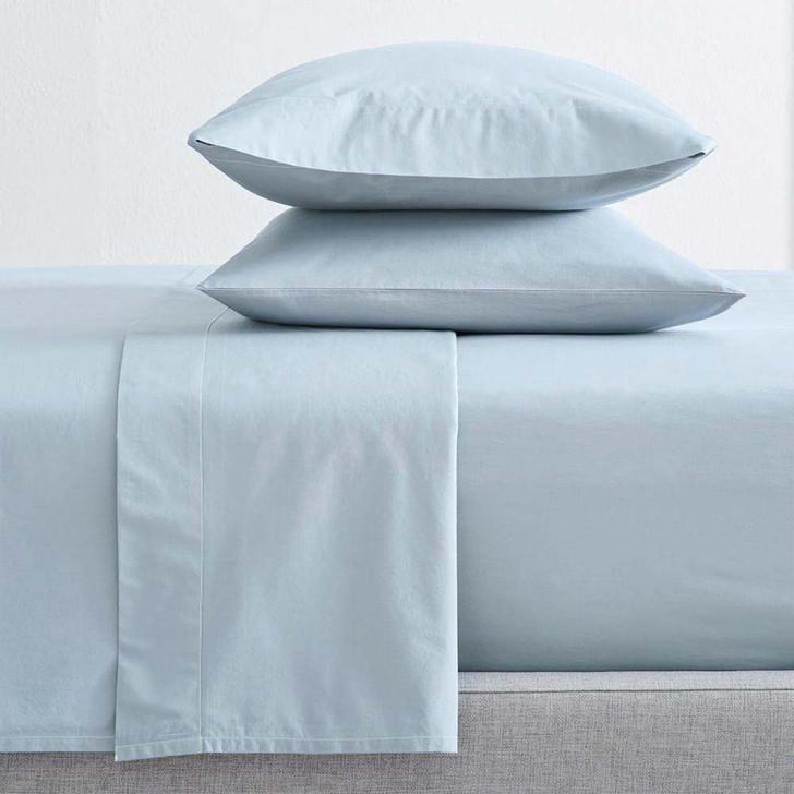 Renee Taylor Organic Baby Blue Sheet Set King Bed | My Linen