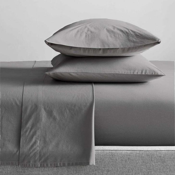 Renee Taylor Organic Steel Grey Sheet Set Double Bed | My Linen