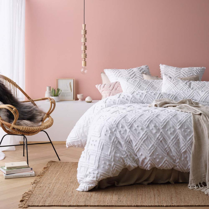 Park Avenue Medallion White Queen Bed Quilt Cover Set   My Linen