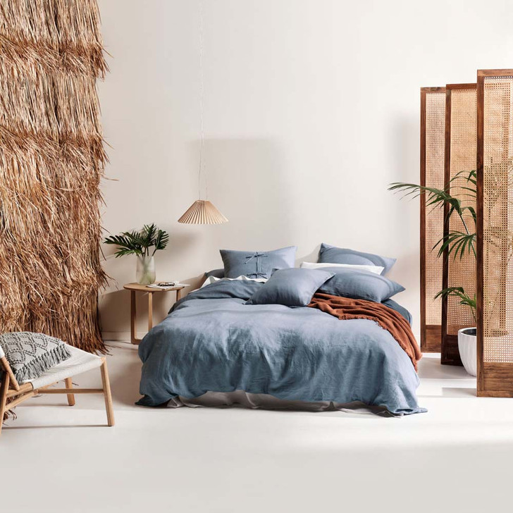 Linen House Nimes Nightfall Queen Bed Quilt Cover Set   My Linen