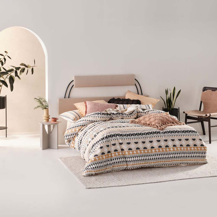 Linen House Penina Biscotti King Bed Quilt Cover Set | My Linen