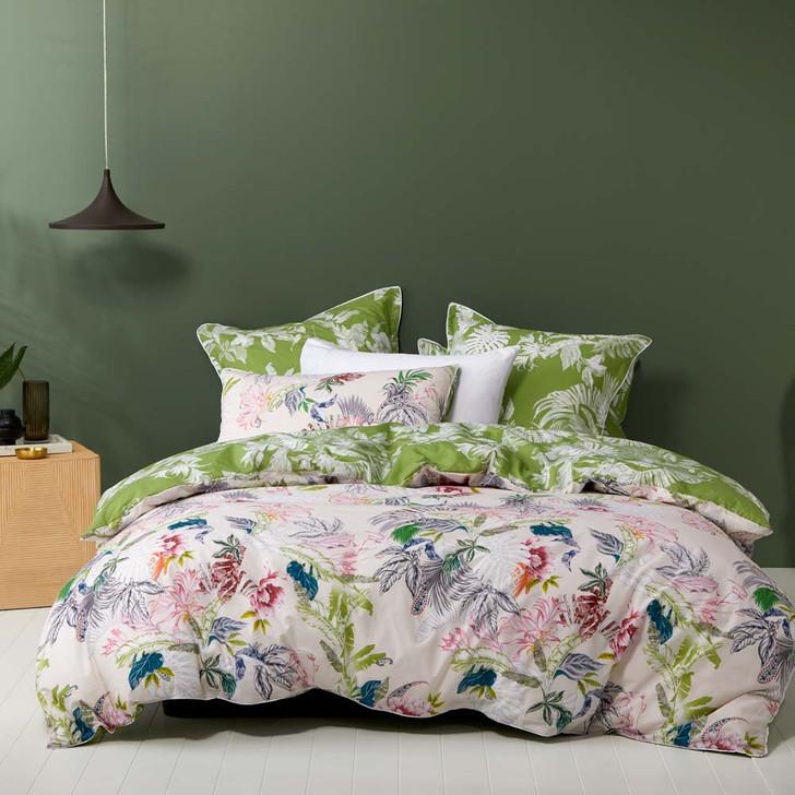 Logan and Mason Paradiso Blush King Bed Quilt Cover Set | My Linen